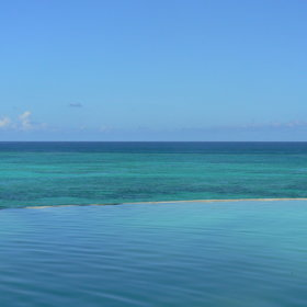 ...it really is hard to tell where the pool ends and the sea and sky begin.