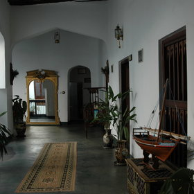 Along the wide corridors are some fascinating pieces of furniture and Zanzibari antiques.