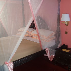 The rooms all come with air conditioning and a mosquito net to ensure a comfortable stay.