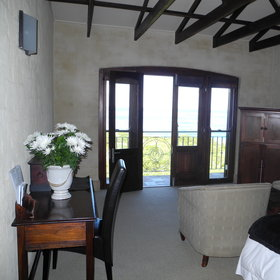 ...and a leading door to a private balcony.