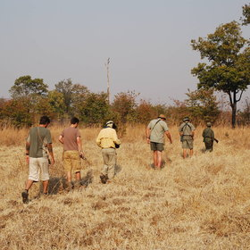 It's one of the most remote camps in Africa, and concentrates exclusively on walking safaris.