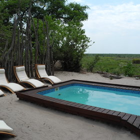 The swimming pool at Linyanti Bush Camp is small but refreshing.
