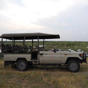 Guided activities include 4WD day and night game drives...