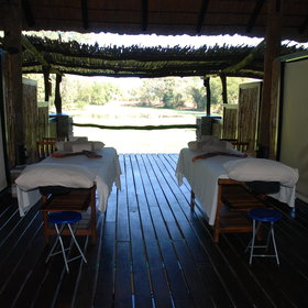 ... or take in a massage while listening to the sounds of the bush.