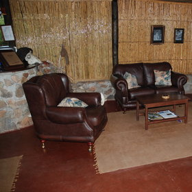 The lounge is rustically styled and very comfortable...