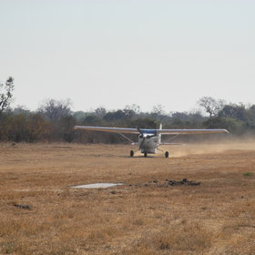 Kanga has its own airstrip, called Dandawa, which is 20 minutes from the camp.