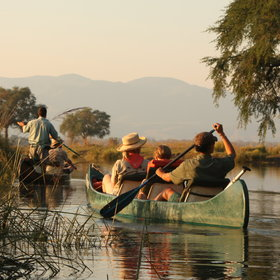 Canoeing is a popular activity at Vundu, and can be taken as a half day activity or over a few days.