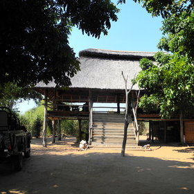 Rhino Safari Camp is located on Rhino Island within Matusadona National Park.