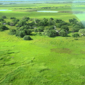 Shoebill Island Camp is situated on the edge of the Bangweulu Wetlands.