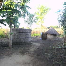 The shower and toilet are located at the back of the village.