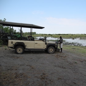 Activities include 4WD game drives and boat trips to explore the surrounding environment.