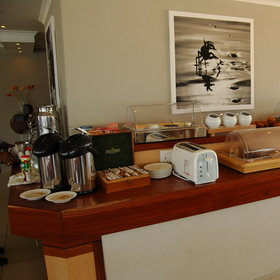 The delicious breakfast is set up in a buffet style to give you a perfect start for the day.