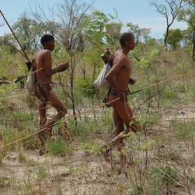 Activities at Nhoma Camp include following Bushmen hunters on a hunting trip…