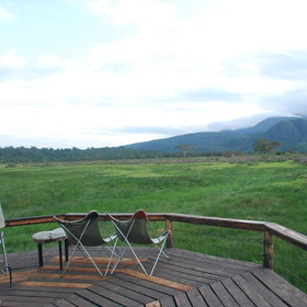 The lodge offers many great views...