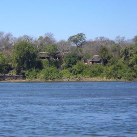 Sindabezi is a small island in the middle of the Zambezi River, just west of Victoria Falls.