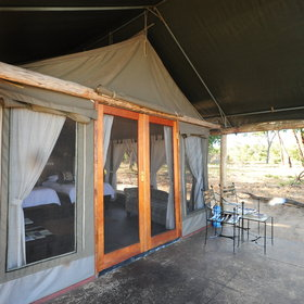 Accommodation at Davison's consists of nine, ground-level tented chalets.