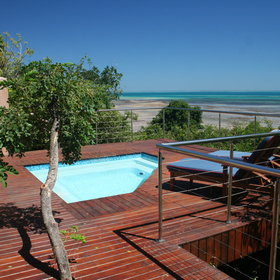 ...and each villa has its own plunge pool.