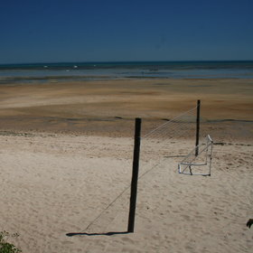 ...or take part in a beach volleyball tournament right next to the crystal clear water.