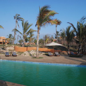 For relaxation, Pemba Beach Hotel has shaded sun loungers...