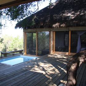 Each of the rooms has its own small, private deck and plunge pool with a view...