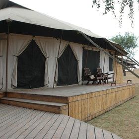 There are six spacious rooms - all of which are tented and very comfortable indeed.
