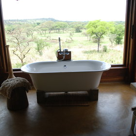 ...whilst the indoor bath has superb views.