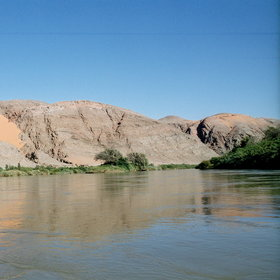 Take in the view of the Kunene River from Kunene Camp...
