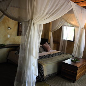 Sususwe Island Lodge has six luxury chalets equipped with twin or double beds...