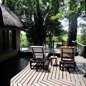Each chalet has its own private deck...