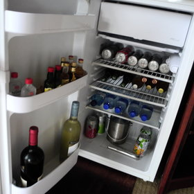 ...and a well-stocked mini bar.