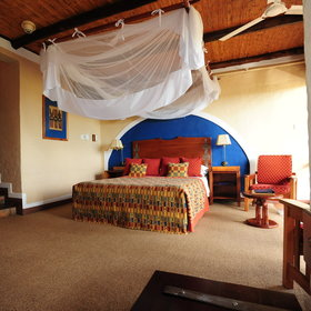 Victoria Falls Safari Lodge offers 15 deluxe rooms which are similar equipped...