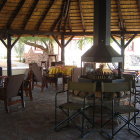 There's also an outside sitting area and pool bar - ideal to relax with a sundowner in the evening.