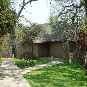 Namushasha Lodge has 22 thatched chalets...