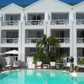 ...and the front facing rooms have views of either the beach or the pool.