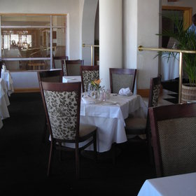 The Tides restaurant is open in high season only and is decorated in fun ethnic fabrics.