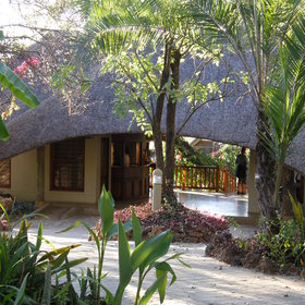 The main area is a thatched building...