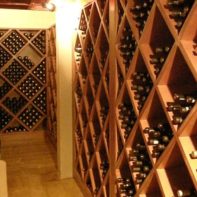 ...and a wine cellar...