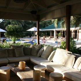 Desroches Island Resort has got a comfortable lounge area...