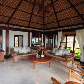 Each colonial-style villa has a large living area...
