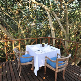 Dinner is prepared by your own chef, and can be served in any natural setting: in the forest...