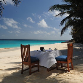 ...or on Fregate's palm-fringed tropical beaches.