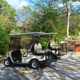You'll have your own solar buggy to explore the island, and to easily reach main facilities.
