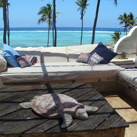 The roof is the ideal place to enjoy a refreshing drink…