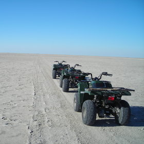 You might also get the chance to explore the pans on quad bikes...