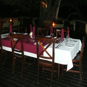 ...dinner is often served here, under the stars - weather permitting!