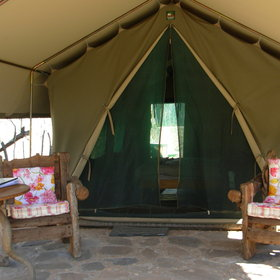 ...Mundulea Reserve offers four spacious walk-in tents...