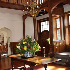 The splendid Hohenort Manor House, with its impressive entrance hall...
