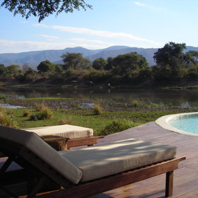 The pool provides great views as it overlooks the Chongwe River...
