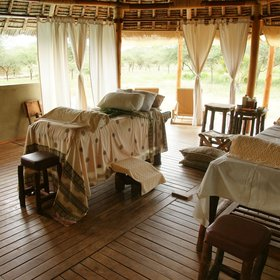 As well as traditional tree cures, the camp has a well-equipped therapy and spa area…