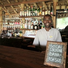 …and the bar never closes - a 'dawa', Swahili for 'medicine', is a good way to start the evening.